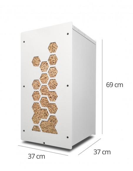 Granulebox 55kg blanc OCTO