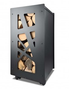 Panier à bûches de bois pour intérieur