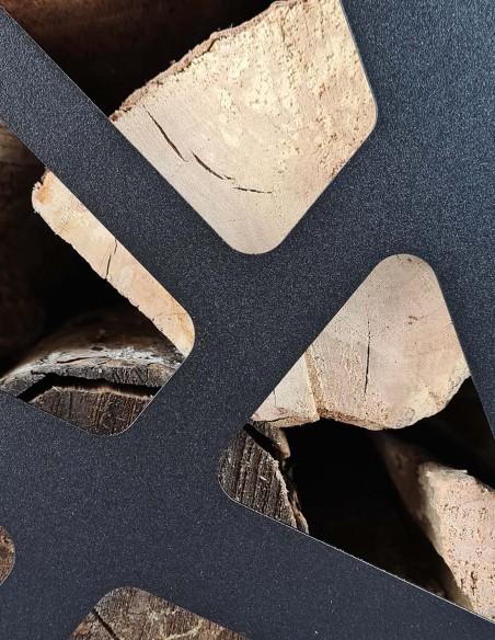 Rangement pour intérieur de bûches de bois pour poêle à bois