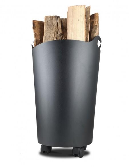 Rangement de bûche de bois pour la cheminée