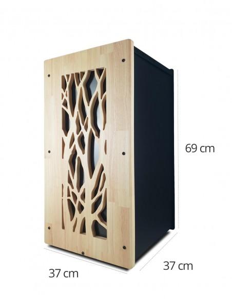 Stockage de pellets en intérieur granulebox noir modèle arbre