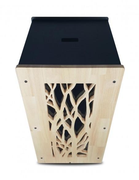 Meuble de stockage de granulés de bois en intérieur