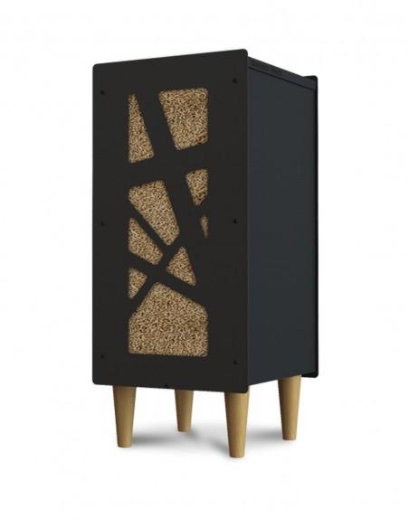 Piétement en bois conique pour rangement à pellets Granulebox