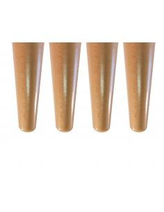 Piétement en bois conique finition incolore vendu par lot de 4 fabriqué en France.