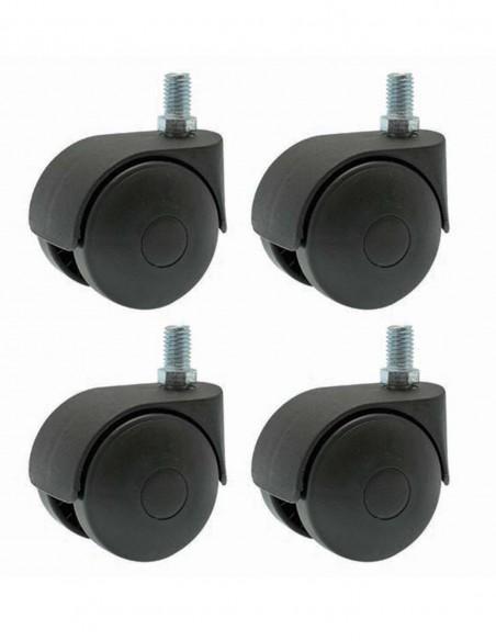 Roulettes grand diamètre pour rangement à pellets