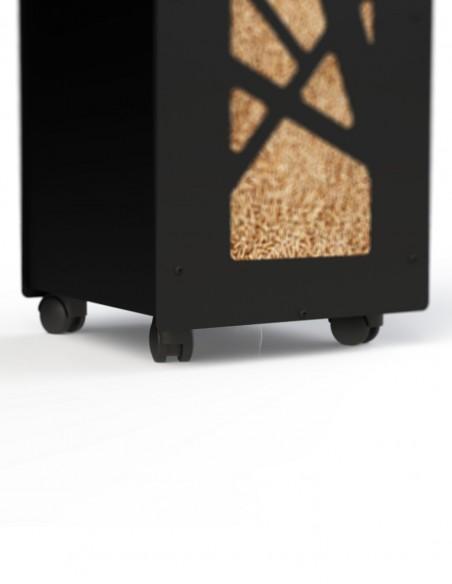 Lot de roulettes fabriqué en France pour déplacer la granulebox