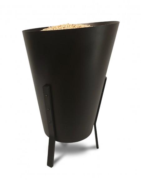 Rangement à granulés de bois design fabriqué en France