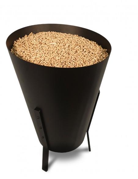 Rangement de pellets design pour stocker 30Kg de pellets