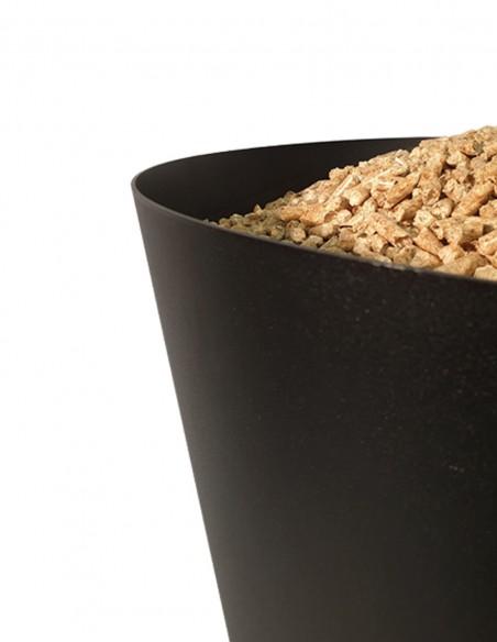 Stock de granulés de bois pour intérieur