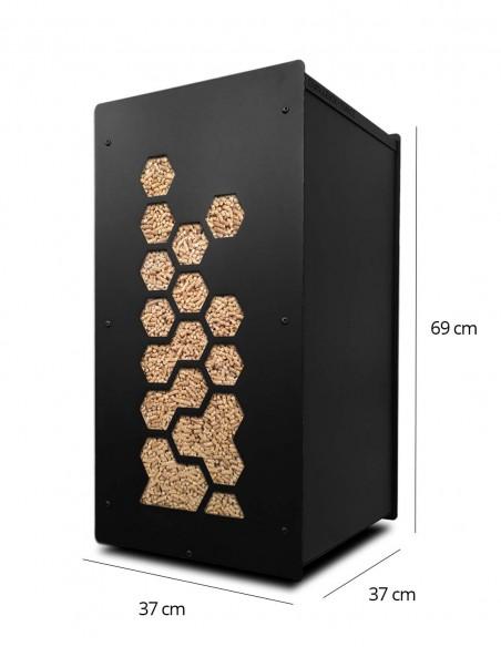 Granulebox 55kg noir OCTO