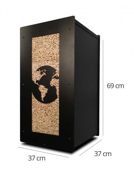 Granulebox 55kg noir WORLD