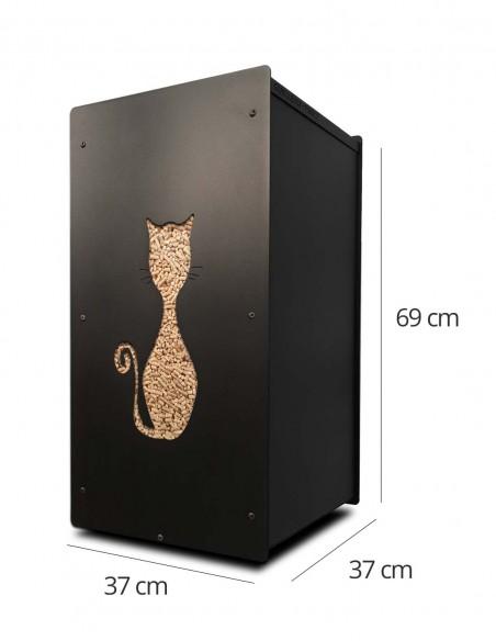 Granulebox 55kg noir FELIX